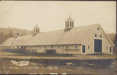 Long Barn, Valley View Farm, N.H.RPPC -Postcard 1912