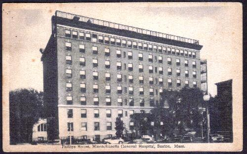 Massachusetts General Hosp. Boston - Postcard 1938