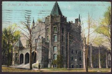 St. Paul, M.E. Church, Toledo, Ohio - Postcard 1909