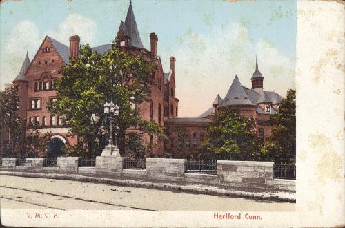 Y.M.C.A. Hartford, Conn. UDB- Postcard C1908